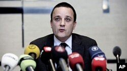 Head of the Danish Security and Intelligence Service Jakob Scharf talks to the media during a press conference in Copenhagen, 29 Dec 2010