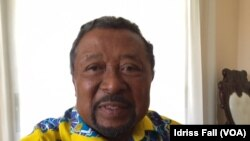 Jean Ping, candidat de l'opposition à l'élection présidentielle du 27 août 2016 au Gabon, à Libreville, 26 août 2016, VOA/Idriss Fall