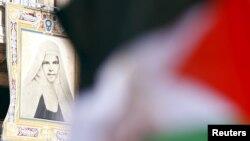 Vatikanda Falastin bayrog'i hilpiramoqda, 2015-yil 17-may.