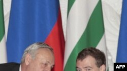 Президенты Абхазии и России