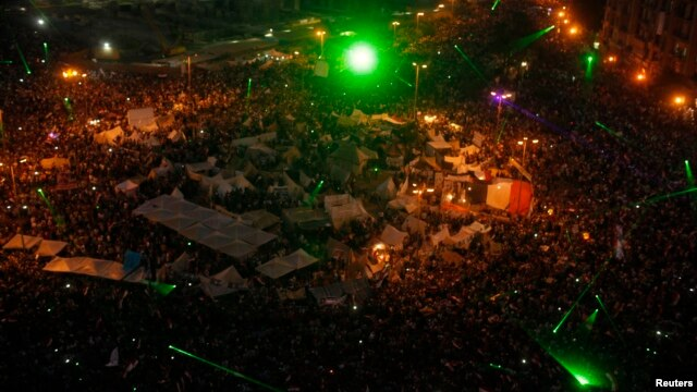 The crowds jammed into Cairo's Tahrir Square July 3, calling for the ouster of President Mohamed Morsi.