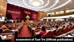 Hội nghị Trung ương 7 khóa 12 của Đảng Cộng sản Việt Nam khai mạc hôm 7/5/2018 ở Hà Nội