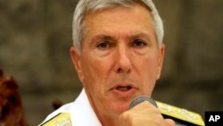 FILE - U.S. Admiral Samuel Locklear III leads the U.S. Pacific Command.