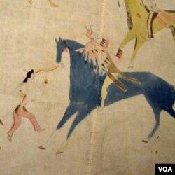Salah satu lukisan kuda yang digunakan dalam perang suku Indian, dipamerkan di Museum Nasional Indian Amerika di Washington, DC.