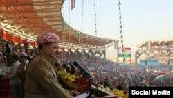 Barzani di Kernevala Referandumê de li Bajarê Duhok