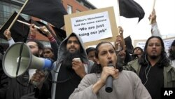 """Demonstrators from """"Muslims Against Crusades"""" (file photo)"""