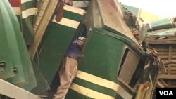 مسافر ٹرینوں میں تصادم