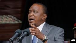Le président Kenyan, Uhuru Kenyatta