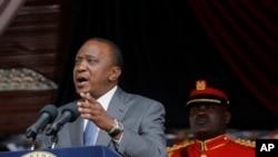 FILE - Kenyan President Uhuru Kenyatta
