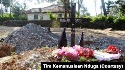Foto Kuburan seorang pengungsi Nduga di Distrik Napua, Kabupaten Jayawijaya yang dirilis Tim Kemanusiaan Nduga.(Foto: Tim Kemanusiaan Nduga)