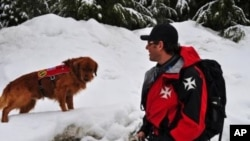 Eric Seelenfreund and his dog Murphy are part of the avalanche rescue team working for the 2010 Winter Olympics at Whistler Mountain