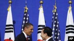 2009년 11월 서울에서 열린 미-한 정상회담 (자료사진)