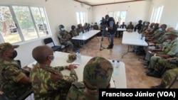 Reunião do comando conjunto das forças de Moçambique, Ruanda e SADC, Mocímboa da Praia, 13 de Outubro de 2021