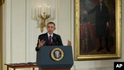 美国总统奥巴马在白宫东厅讲话(2016年5月16日)