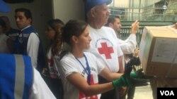Archivo - La ayuda humanitaria comienza a ser distribuida a hospitales de Venezuela el 17 de abril de 2019.