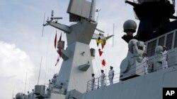 Chiến hạm Tương Đàm của hải quân Trung Quốc.