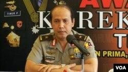 Kepala Biro Penerangan Masyarakat Kepolisian Republik Indonesia Brigjen Boy Rafli Amar. (VOA/A. Waluyo)