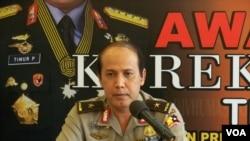 Juru bicara polisi Brig. Gen. Boy Rafli Amar. (VOA/A. Waluyo)