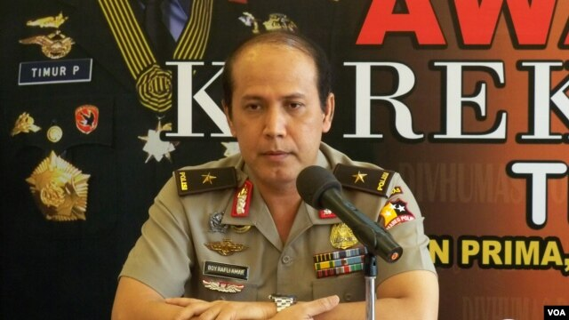 Kabiro Penerangan Masyarakat Mabes Polri, Brigjen Pol Boy Rafli Amar (VOA/Andylala).