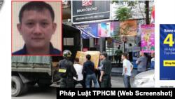 Tổng giám đốc Bùi Quang Huy (ảnh nhỏ) bị truy nã và các cửa hàng của công ty Nhật Cường bị công an khám xét.