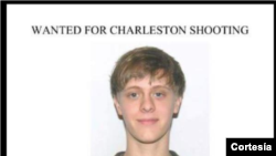 Este es el poster distribuido por la policía de Charleston.