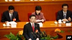 Zhou Qiang, hakim ketua Mahkamah Agung Rakyat China di Beijing (Foto: dok/AP)