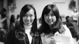 Roommates Jing Li (L) and Lu Lingzi (R) in a photo taken at Boston University before Lu died from wounds received while attending the Boston Marathon in April, 2013