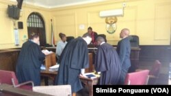Une salle d'audience en Afrique du Sud