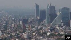 Polusi udara di Mexico City pada siang hari (foto: dok).