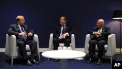 رهبران افغانستان و پاکستان همچنان با صدراعظم بریتانیا ملاقات مشترک داشتند