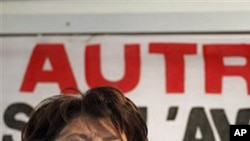 Martine Aubry, first secretary of the French Socialist Party, at the World Social Forum in Dakar, February 9, 2011