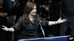 阿根廷总统克里斯蒂娜·费尔南德斯10月19日在布宜诺斯艾利斯