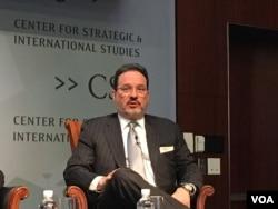 战略与国际研究中心亚洲副总裁格林 (美国之音钟辰芳拍摄)