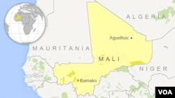 非洲馬里位置圖