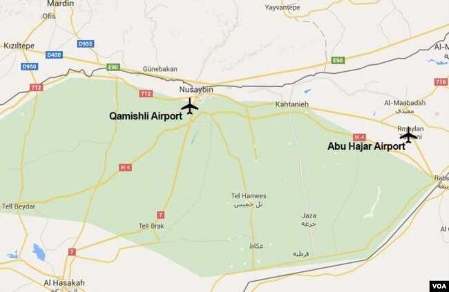 US Confirms Involvement In Syria Airfield Expansion - Qamishli map