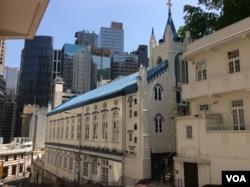 香港圣公会圣保罗堂 (美国之音记者申华 拍摄)