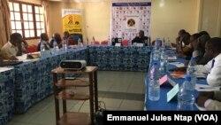 Les participants à l'atelier national sur les libertés publiques à Yaoundé, le 12 mars 2019. (VOA/Emmanuel Jules Ntap)