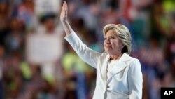 Demokratlar partiyasidan prezidentlik uchun nomzod Hillari Klinton, Filadelfiya, 28-iyul, 2016-yil.