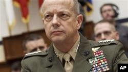 美国驻阿富汗军队最高指挥官约翰·艾伦将军(资料照)