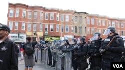 巴尔的摩骚乱后的第二天