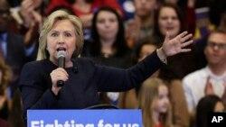 Bà Clinton đã ngưng ủng hộ Hiệp định Hợp tác Thương mại Xuyên Thái Bình Dương (TPP) do Tổng thống Barack Obama chủ xướng mà bà từng tán thành khi còn giữ chức Bộ trưởng Ngoại giao.