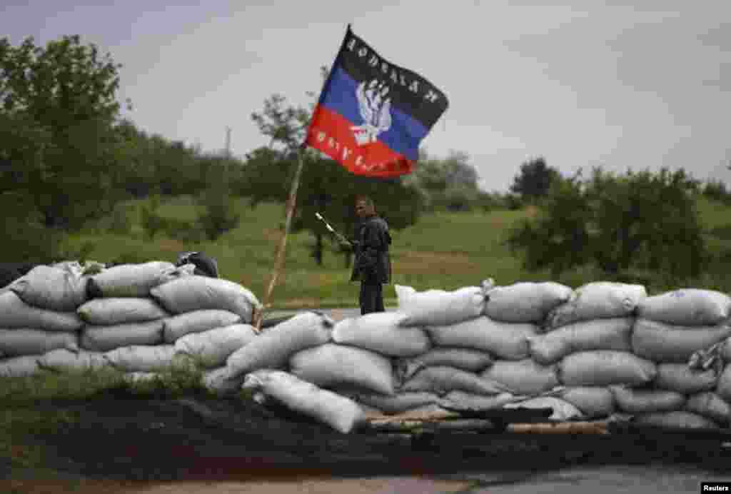 Rusiya tərəfdarı fəallar - Drujkovka, 2 iyun, 2014