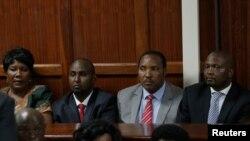 Wanasiasa wa upinzani Kenya kutoka (L) Florence Mutua, Junet Mohammed, Ferdinand Waititu na Moses Kuria