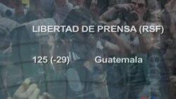 EE.UU. y Guatemala empeoran en libertad de prensa