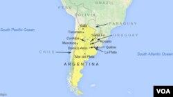 Kota Olavarria, tempat berlangsungnya konser musik rock, terletak sekitar 180 kilometer di barat laut ibukota Argentina, Buenos Aires (foto: ilustrasi).