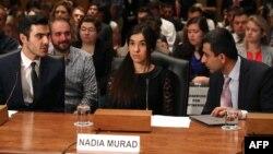 IŞİD'in elinden kurtulan Ezidi kadın Nadia Murad, insan hakları eylemcisi olarak Amerikan Senatosu'na açıklama yaptı.