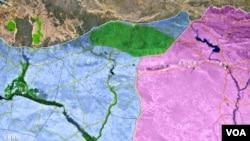 摩苏尔及周边地区示意图