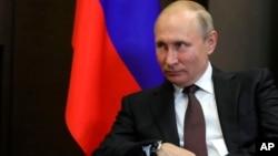 Vladimir Poutine, Sotchi, Russie, le 21 mai 2018