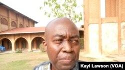 Bruno Haden, secrétaire général de l'ACAT-Togo à Lomé, 31 mars 2021. (VOA/Kayi Lawson)
