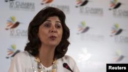 La canciller María Ángela Holguín celebró que el presidente de EE.UU. llegue a Colombia.